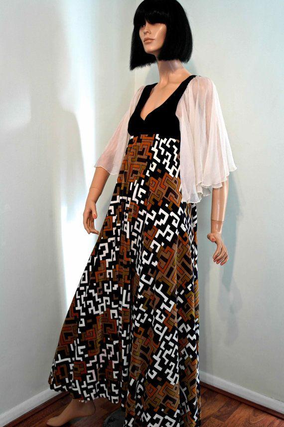 RARE 1960s Gina Fratini velvet and silk by VicAndBertieVintage, £240.00