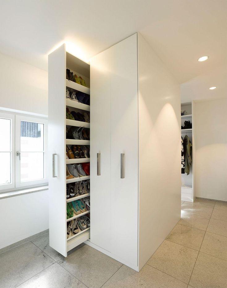 Helytakarékos gardrób - belső továbbiak ötletek, modern stílusban