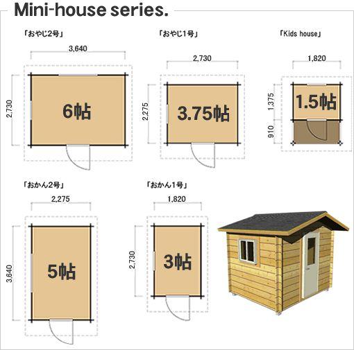ここでご紹介するミニハウスは、建築確認申請を必要としない大きさと部材であることをご理解下さい。