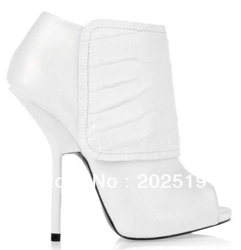 Aliexpress.com: Купить 2013 новое поступление элегантная дама высокий каблук белый ботильоны топ овец кожи с открытым носком сандалии из Надежный открытые сандалии ног поставщиков на Jo Zhang's store 202519