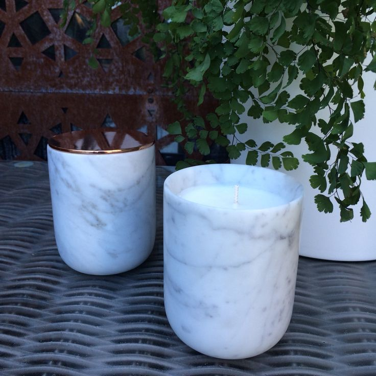 Gorgeous marble candles by Miss White Melbourne, hand poured in Melbourne just beautiful