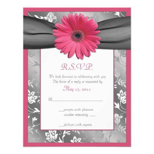 Discount DealsPink and Grey Floral Damask Wedding Reply Card Personalized Announcementso please read the important details before your purchasing anyway here is the best buy