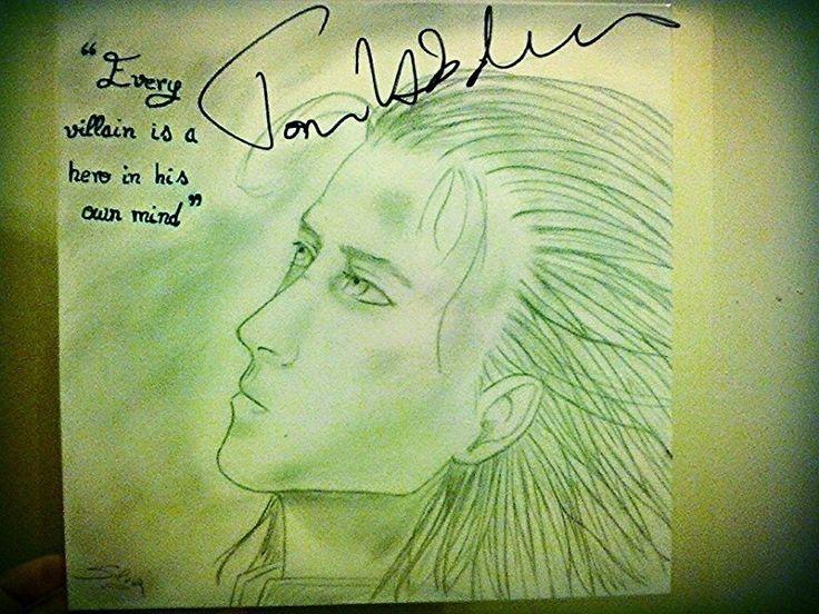 Loki portrait, signed by Tom Hiddleston  1545009_10202864941254305_1649063638_n.jpg (960×720)