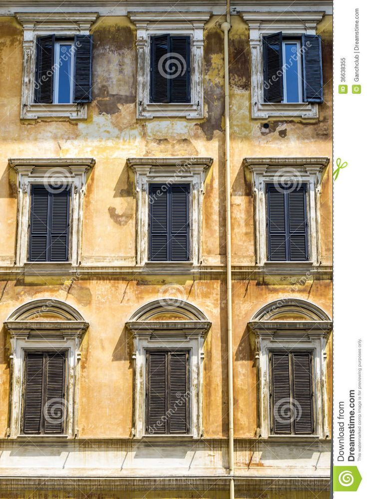 italian-house-ancient-facade-windows-36638355.jpg (957×1300)