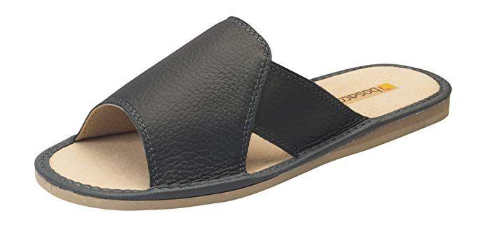 f529548931d Bosaco Mens Comfort Luxury House Slip On Slippers Genuine Leather ...