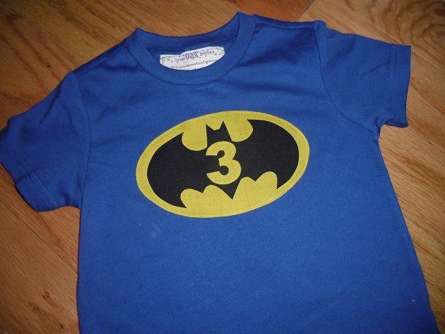 Toddler Boys 3rd Third Birthday Batman Superhero Inspired Birthday Shirt