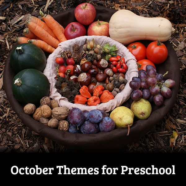 There are lots of great October themes that you can bring into your preschool classroom!