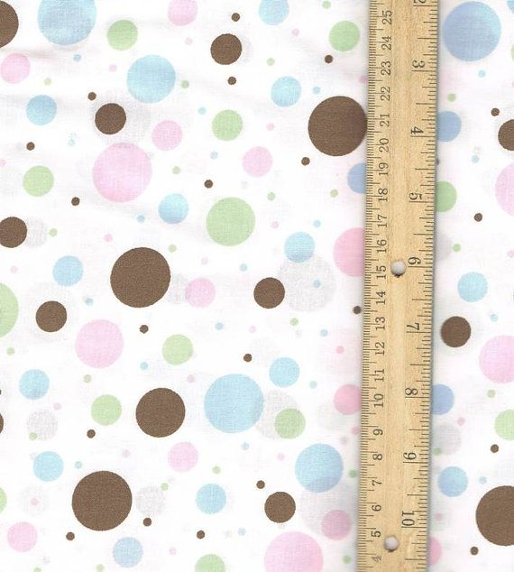 Multi Color Polka Dot Fabric 100 percent by SouthernSisterSupply