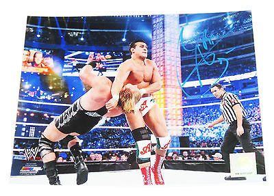 WWE ALBERTO DEL RIO HAND SIGNED 8X10 PHOTO FILE W/ PROOF 6