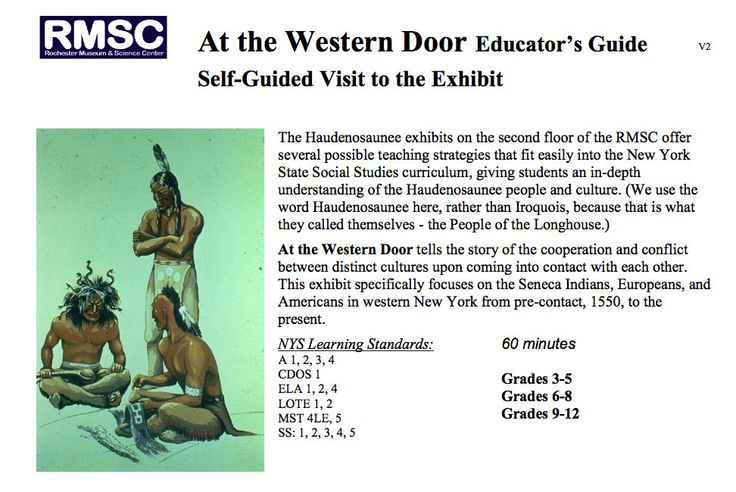 Rochester Museum's Haudenosaunee  educator guide