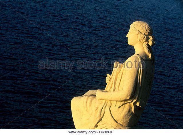 Statue of Erato Muse of Music Kimolos Island