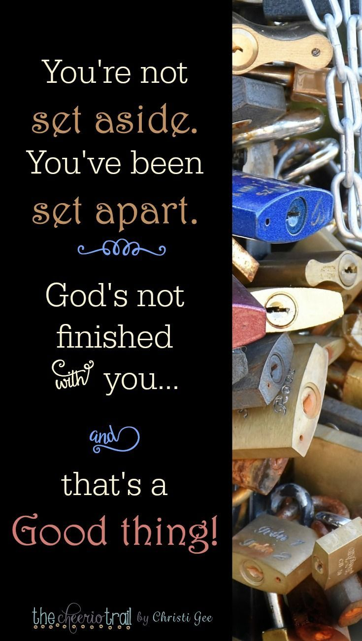 You're not set aside. You've been set apart. Hope for the trials and discipline that accompany time on God's anvil. Scripture from Ephesians, 1 Peter, James, Proverbs with biblical wisdom, inspirational quotes, and truth from the Word of God for Christians. Bible study, devotional, faith-based encouragement via /ChristiLGee/