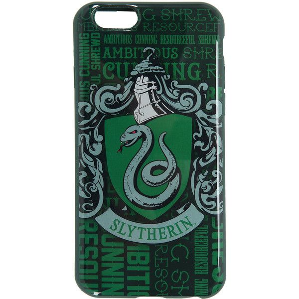 Harry Potter Slytherin iPhone 6/6s Case Hot Topic ($10) ❤ liked on Polyvore featuring accessories, tech accessories, phone cases, phone, slytherin and case
