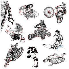 extreme sport illustration