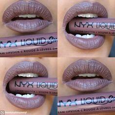 Nyx suede liquid lipstick in Brooklyn thorn