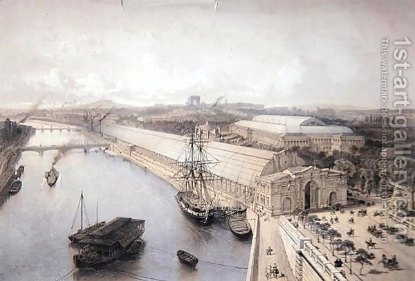 General View of the Palais de l'Industrie constructed for the Paris Exhibition of 1855 by Henri Michel Antoine Chapu