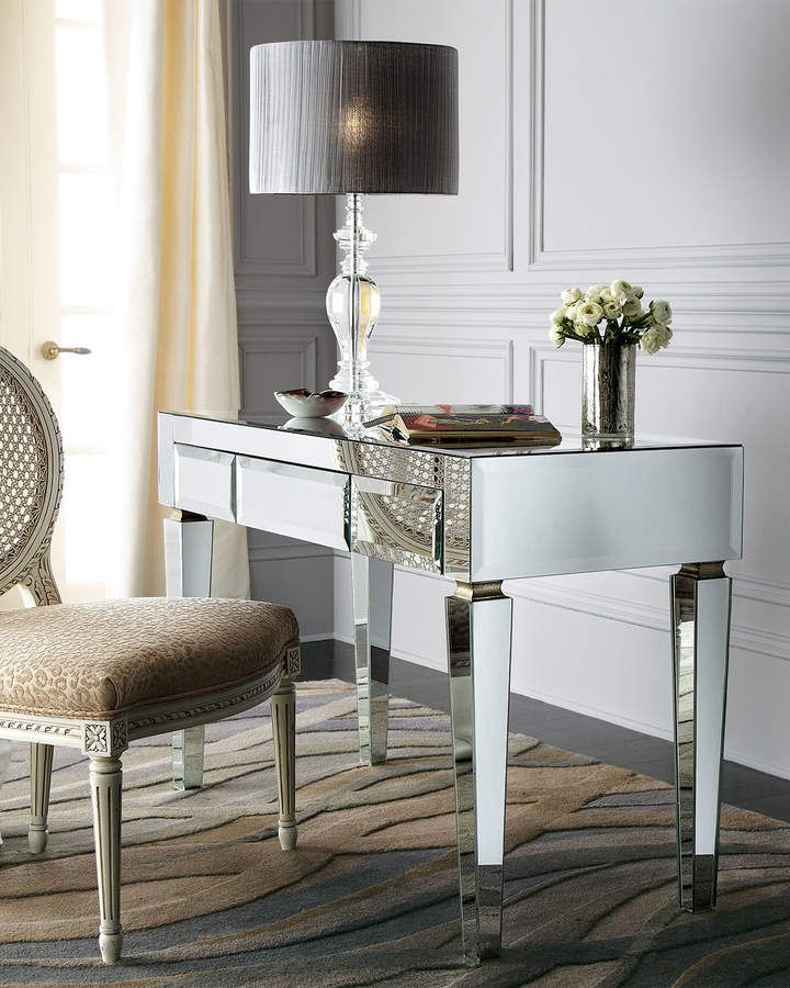 Mirrored Desk Furniture Home Office Diy