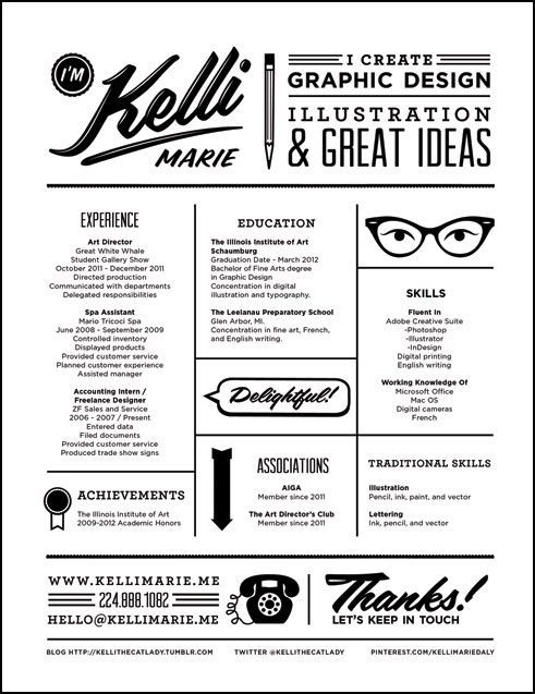 #Creative #Resume.  For my summer staffer friends who have…