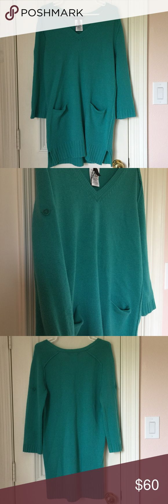 NWT Bcbgmaxazria Sea Green Sweater Dress Beautiful sea green sweater dress. Brand new with tags! BCBGMaxAzria Dresses