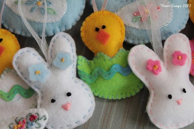 Easter felt ornaments