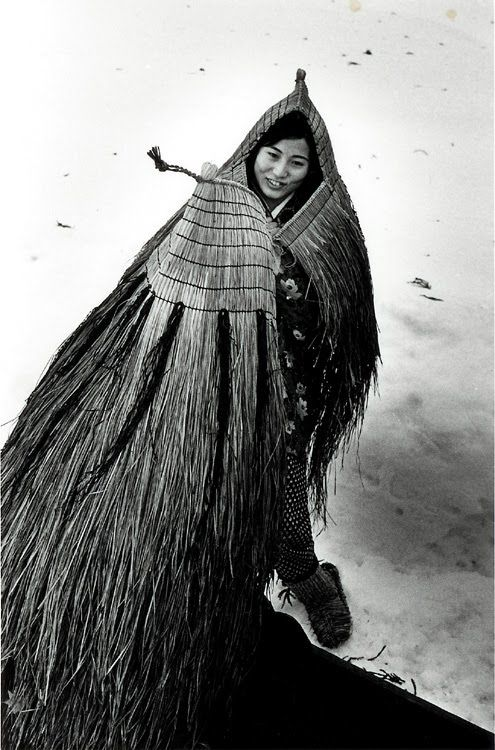 Japanese straw cape, photo by Asano Kiichi (Japanese, 1914-1993)