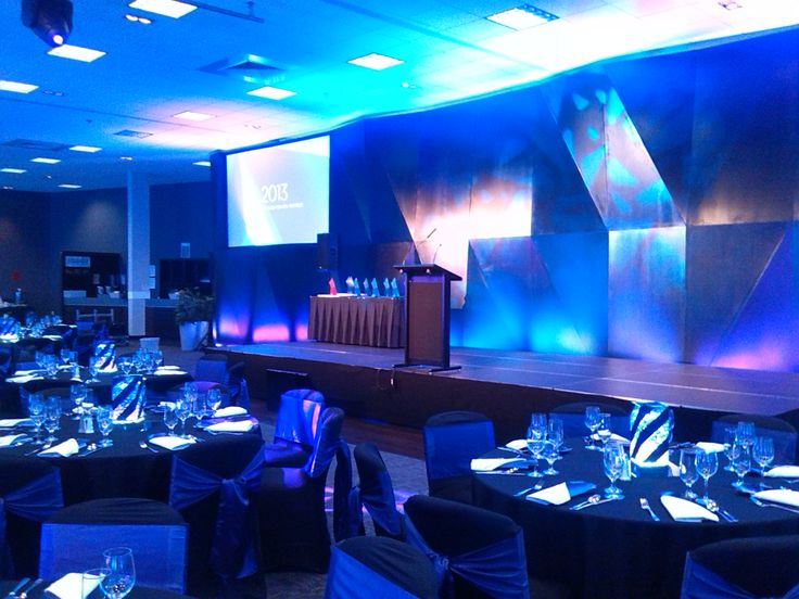 Medical DHB Health Awards stage, lighting and Projector screen. Awapuni Event Center 2013