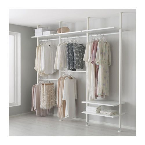 elvarli 3 sections white clothes railhanging