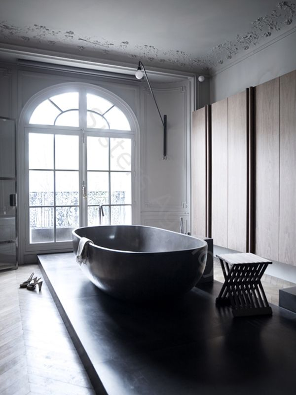 Industrial minimalist bathroom