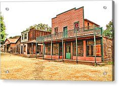 Ghost Town In The Mountain Acrylic Print by Jason Abando