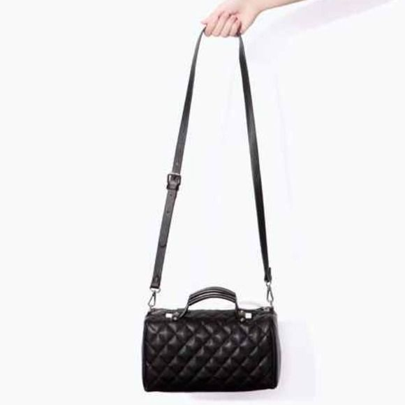 Zara Handbags - Black quilted Zara bowling bag