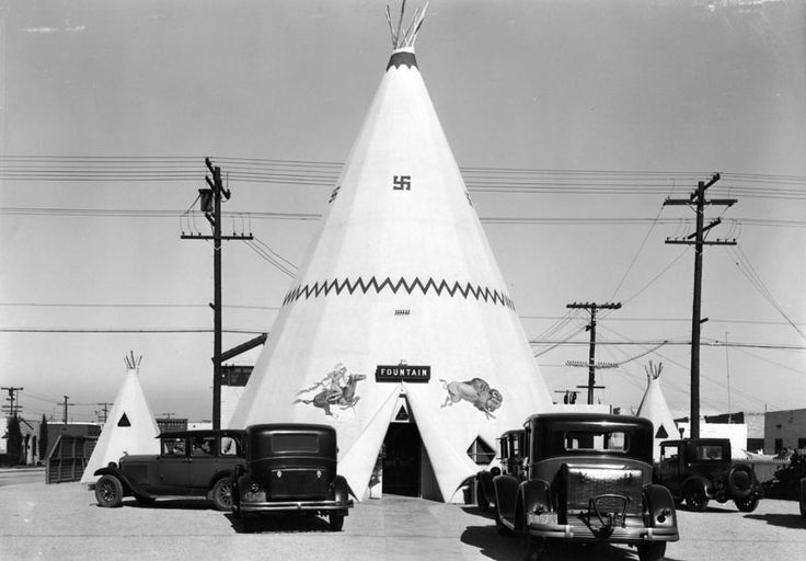 The Teepee ice cream stand, located on 2nd St. and Covina Ave, Long Beach - 1931