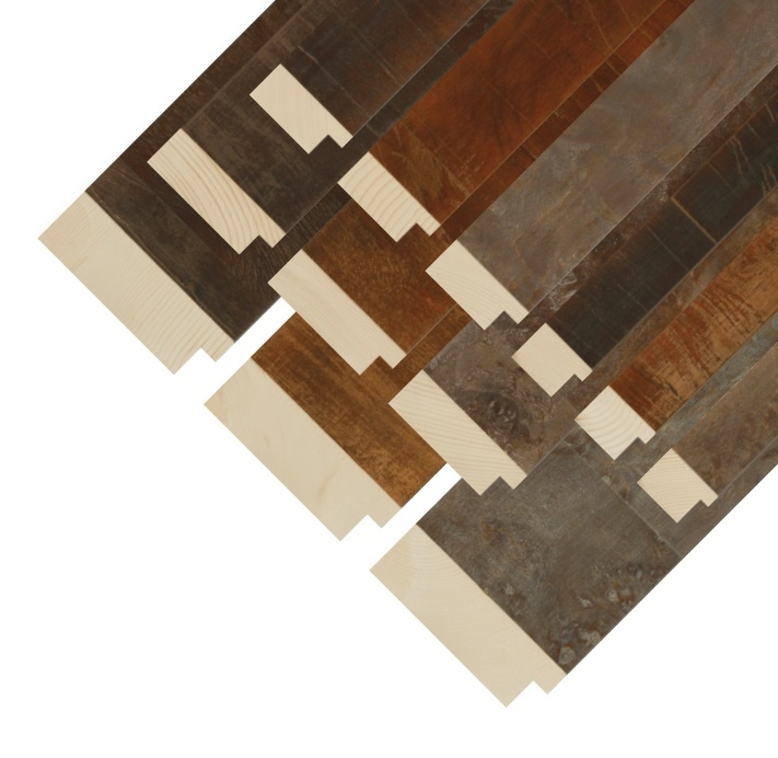 Our new Dillon custom frame collection - industrial chic inspired chunky profiles & rustic finishes!