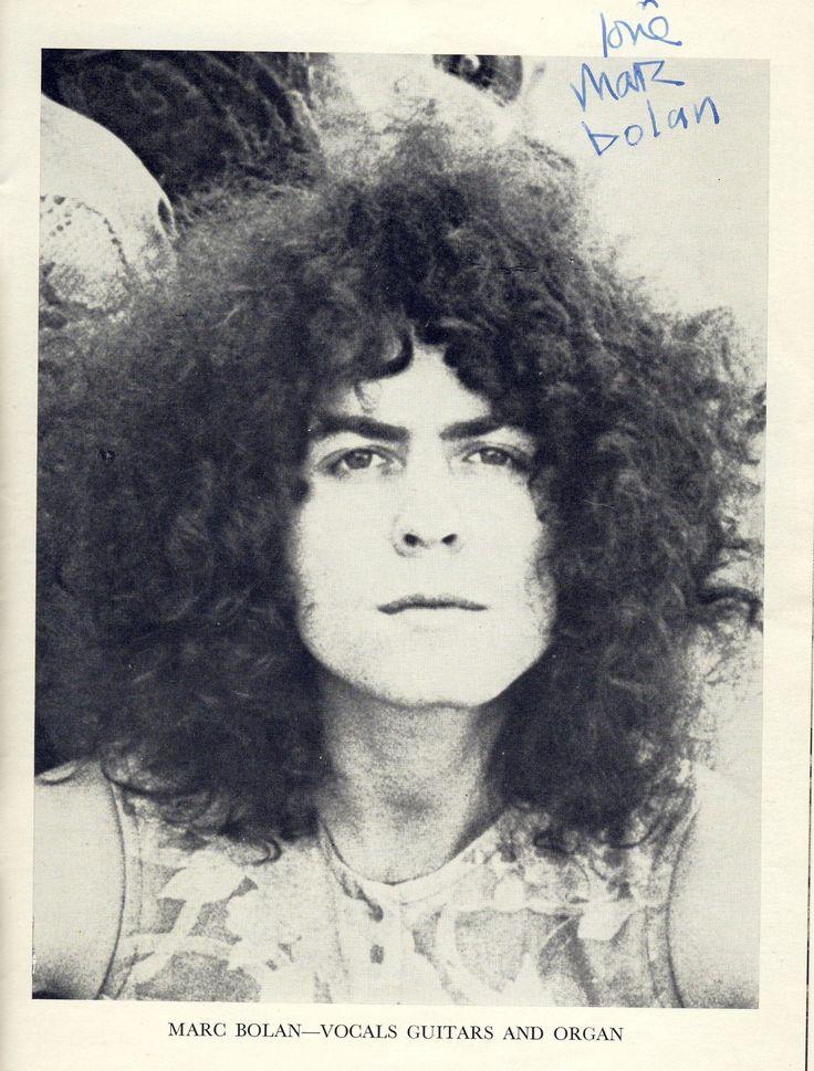 Autographed Marc Bolan photo.