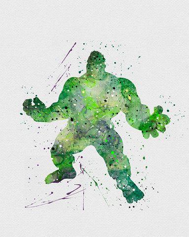 The Hulk Watercolor Art