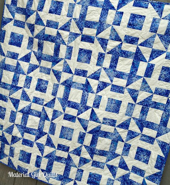 churn dash quilting by Material Girl Quilts, via Flickr