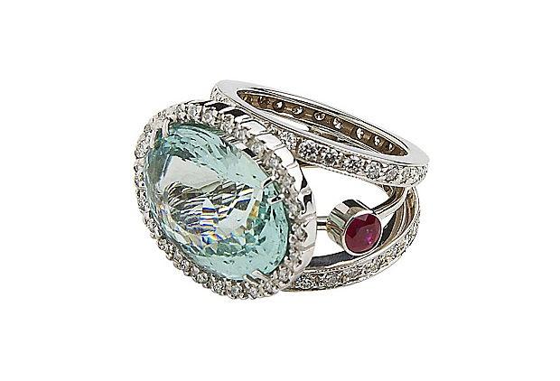 .Jewelry Splitshank, Splitshank Aquamarines, Aquamarines Rings, Tom Castor, Aquamarine Rings, Castor Jewelry, Aquamarines Jewelry, Split Shanks Aquamarines, Jewelry Aquamarines