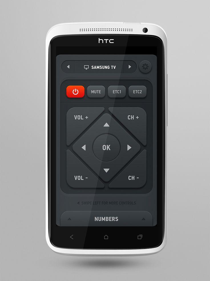 Smart Remote app interface design  #htc #interface #design #remote #control #tv #samsung #smart #ui #gui #user #Experience #mobile #inspiration