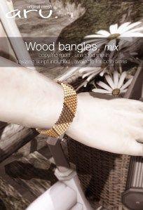 aru - wood bangles mix