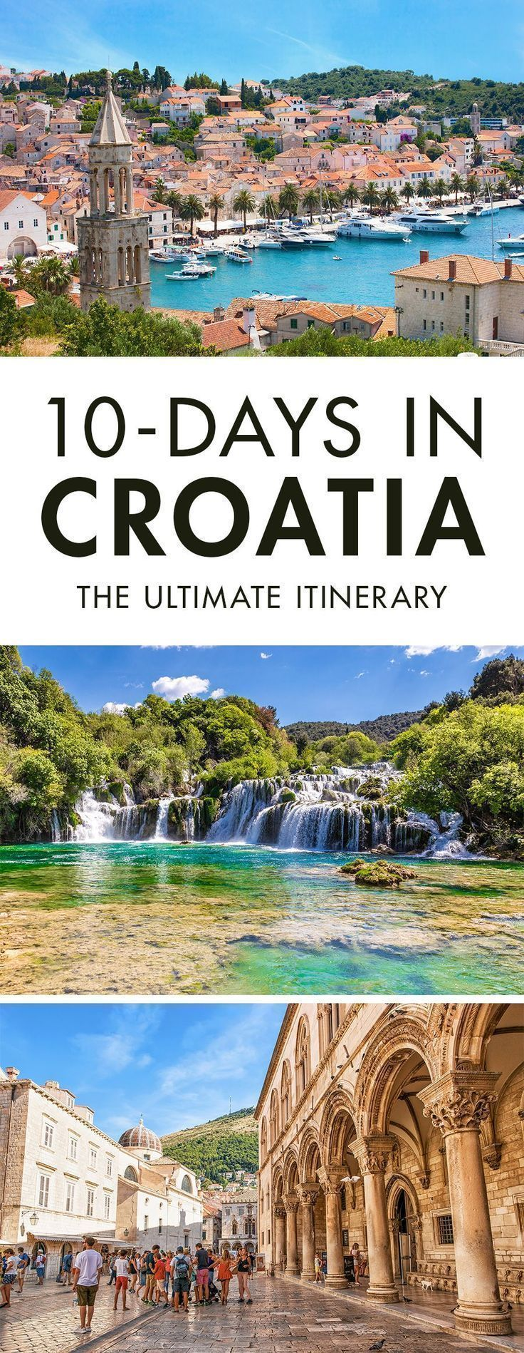 Heading to Croatia for a few days? Click the pin to read our travel guide on how to spend 10 days in Croatia. It's the only Croatia Itinerary you will need, trust me. #traveltricks