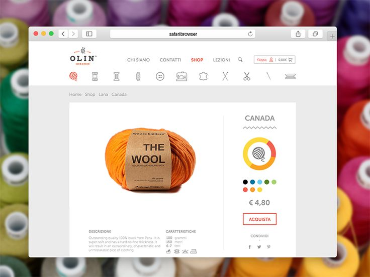 Olin Haberdashery Store Website by Filippo Chiumiento