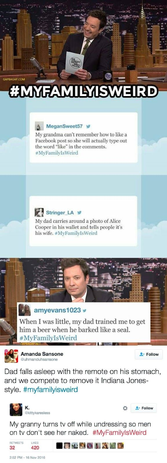 Top 10 Funniest Tweets About #MyFamilyIsWeird ft. Jimmy Fallon