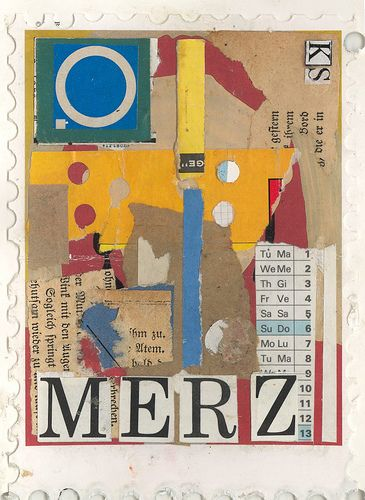 Kurt Schwitters Homage Stamp by ART NAHPRO, via Flickr