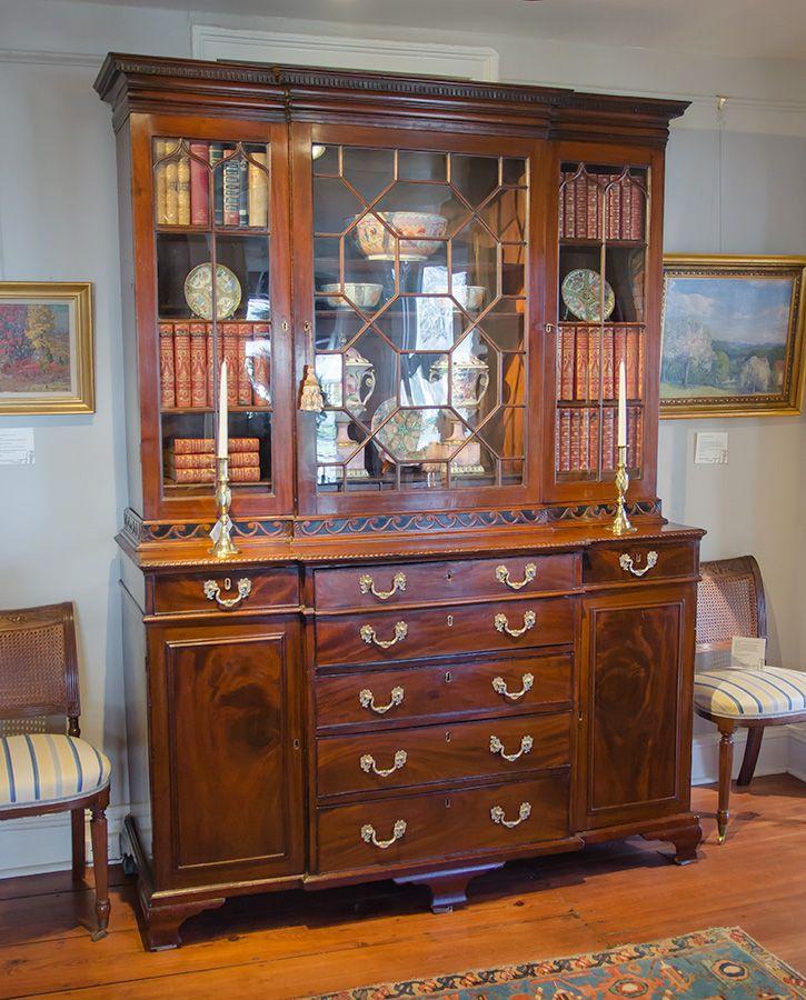 George Iii Mahogany Breakfront Bookcase Secretary Antiques Pinterest Antique