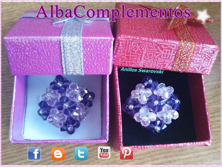 anillos swarovski 9F tonos violeta