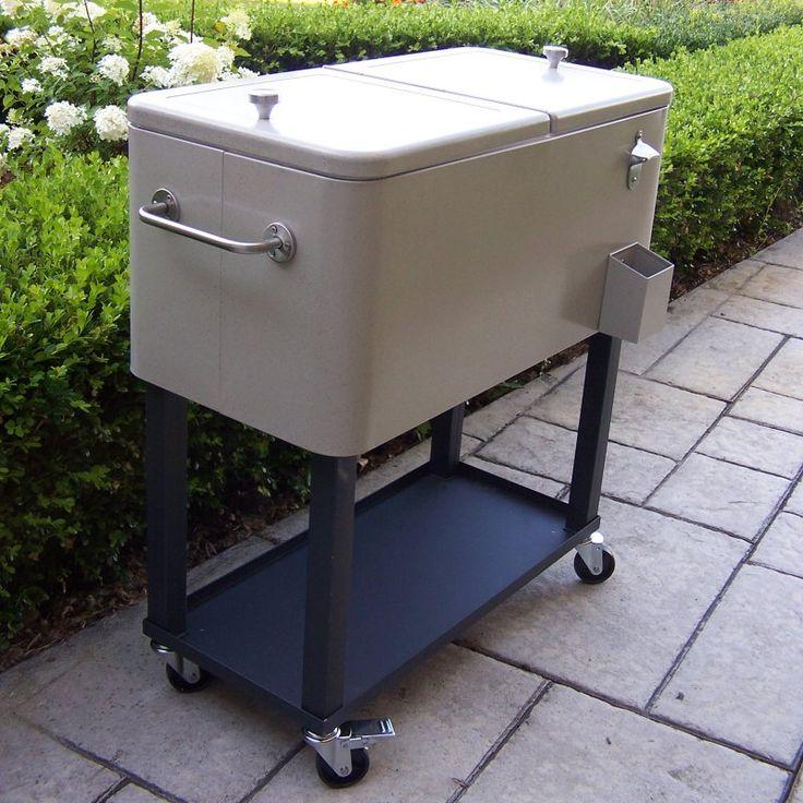 Oakland Living 80 qt. Patio Cooler Cart - 90010-BS