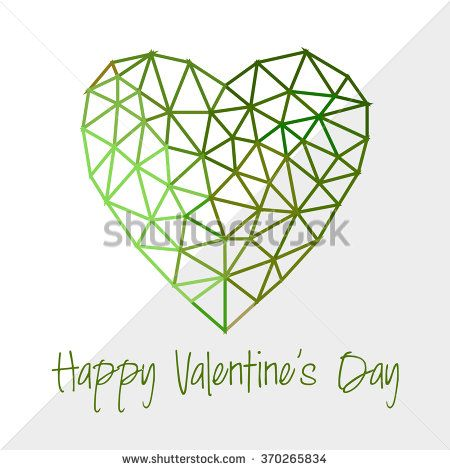 Origami heart, Vector Illustration. Abstract polygonal heart. Love symbol. Low-poly colorful style. Background for Valentines day. - stock vector