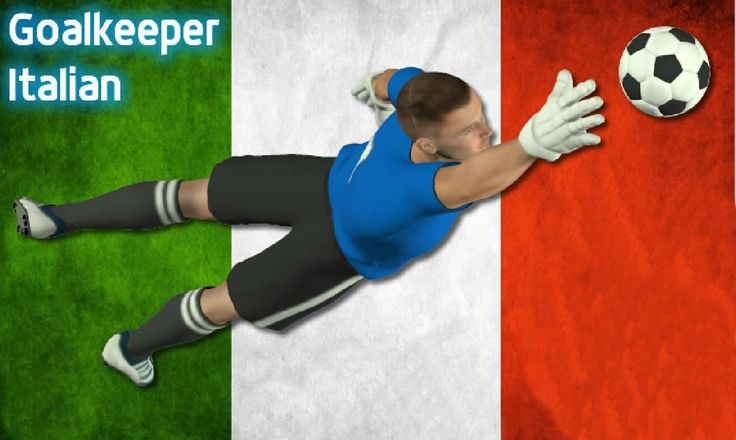 Goalkeeper Italian version of great football game.