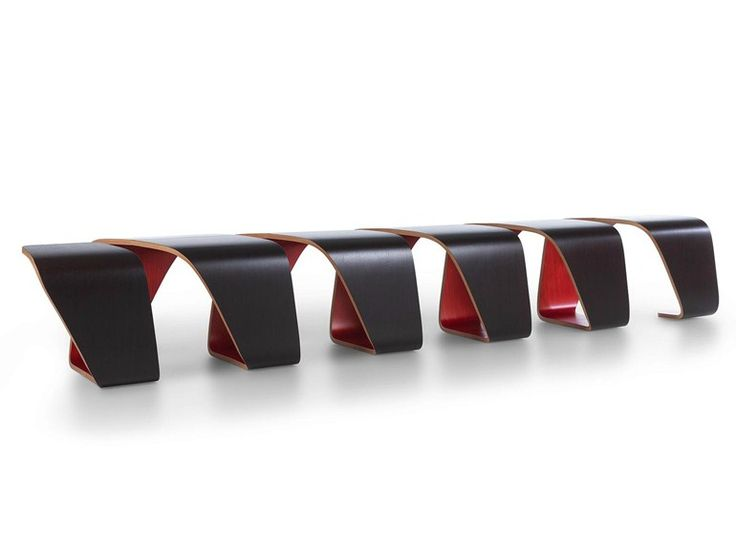 Modular Multi Layer Wood Bench DNA | Bench   True Design
