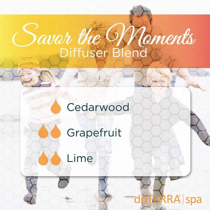 Savor the Moments Diffuser Blend with Cedarwood, Grapefruit, and Lime Essential Oil.