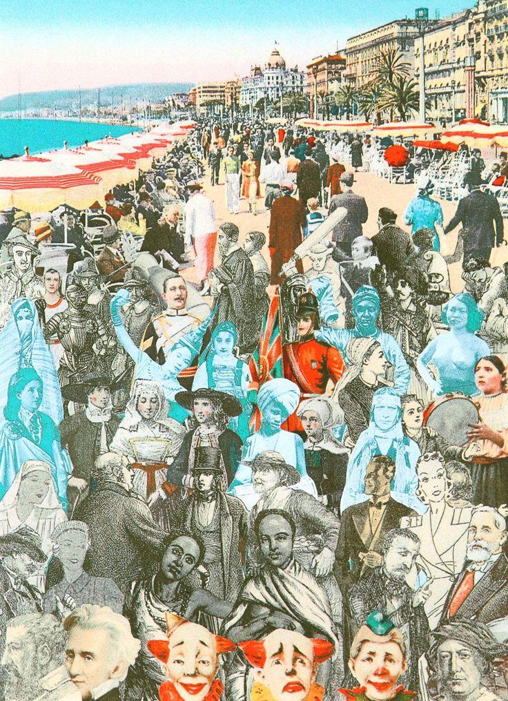 World Tour: Nice, Promenade Silkscreen Print by Sir Peter Blake